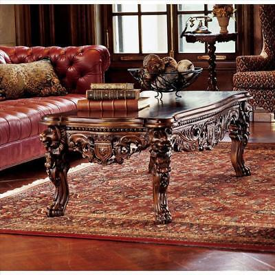 """Hand-carved Solid Mahogany Lion Leg Coffee Table antique replica 55"""""""