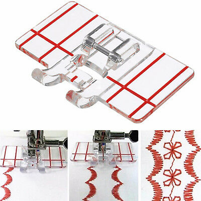 Clear Plastic Parallel Stitch Foot Presser For Home Domestic Sewing Machine New