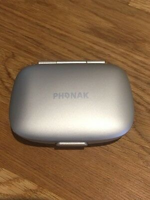 Phonak green and gold Hearing aid Case