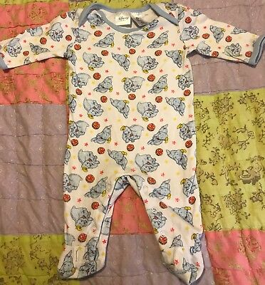 Baby Boys Disney Dumbo Print Cotton Romper One Piece suit Size 000 New no tag