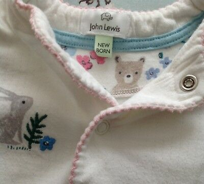 John Lewis Top Quality Baby grows  For newborn