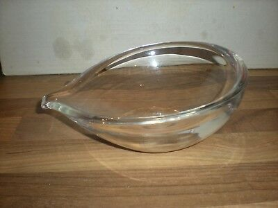 Stunning Signed STEUBEN Lead Crystal Art Glass  Bowl