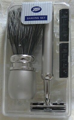 Men's Metal Shaving Set with Acrylic Case
