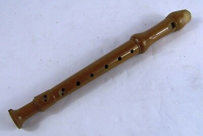 Vintage Kung Wood Recorder Swiss Made 7G2 Hargail NYC 2 pc Wooden Flute