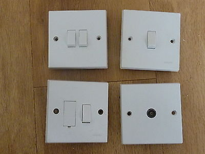 4 X ASSORTED ELECTRICAL SWITCHES 13Amp