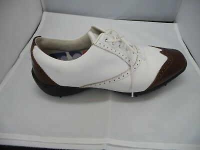 3c61c3a43b4b Footjoy LoPro Collection 97014 Women s White copper Leather Golf Shoes SZ  9.5 ...