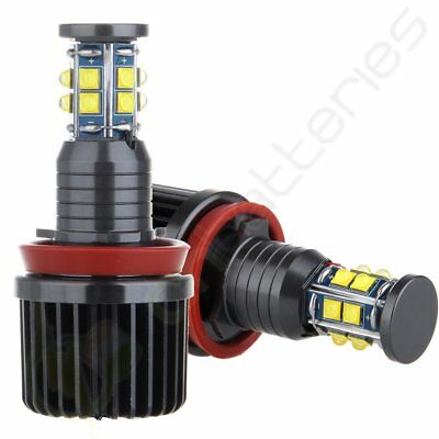 2X Bright Halo Ring Light 120W Cree BMW H8 6000LM HID Canbus Angel Eyes LED Bulb