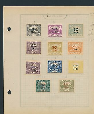 XB31098 Czechoslovakia Silesia Orientale 1920 old stamps lot MH/used