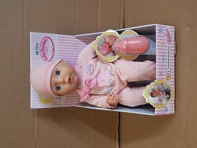 Zapf Creation My First Baby Annabell Soft-Bodied Doll with Bottle Xmas Gift Toy