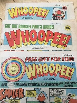 whoopee comic X3 Oct 3 17 And 31st 1981