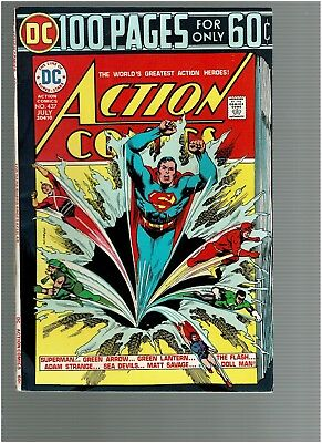 Action Comics 437 Superman Green Arrow Green Lantern Flash 100 pages VF