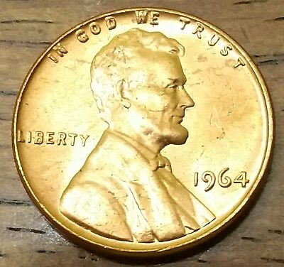 1964 LINCOLN MEMORIAL CENT PENNY AU Very Nice Higher Grade