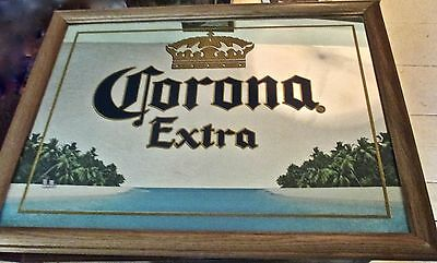 Vintage Corona Extra Beer Mirror from the late 1970s, early 1980s. Corona Beer.