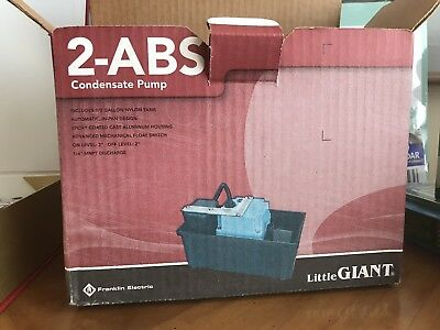 Little Giant 2-ABS Series In Pan Shallow Pan Condensate Removal Pump