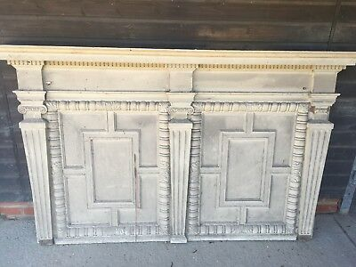Vintage Victorian Wooden Over Mantle Rare Antique