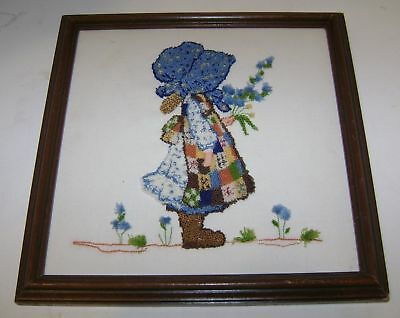 """Vintage Holly Hobbie Framed Picture Wall Decor 10"""" X 10"""""""