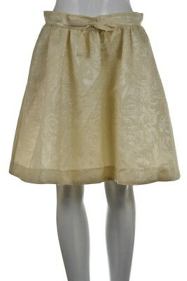 Conscious Collection H&M Womens Skirt Size 10 Beige  A-Line Above Knee