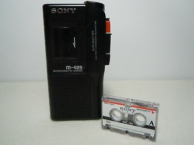 Sony M-425  Micro Cassette Tape Voice Recorder Dictaphone