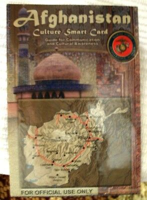 Afghanistan Smart Card Pocket Card Map SOCOM SF SEAL Military SpecOps OEF OIF