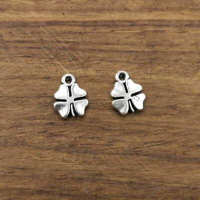 20pcs Charms lucky irish four leaf clover Pendants Antique Jewelry Making DIY