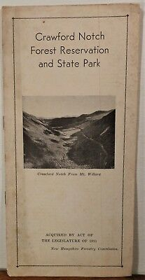 1920's 30s Crawford Notch Forest Reservation New Hampshire State Park brochure b
