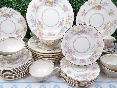 46 Pc Syracuse Briarcliff Dinnerware Set, Service for 8, Dinner Luncheon Plate +