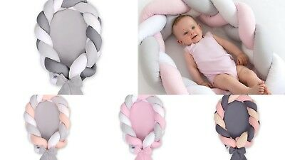 Baby Nest Newborn Cocoon Pod Portable Cot Snuggle Sleeping Mat Braided Bumper