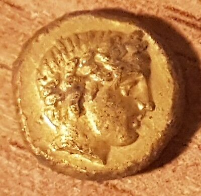 Rare Greek Gold  coin 1/4 Stater Kings Philip II of Macedon -2.15 g. PELLA