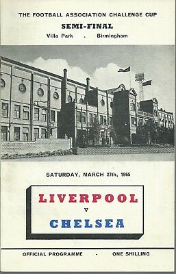Liverpool F.c. V Chelsea  F.a. Cup Semi Final 1965  Matchday Programme