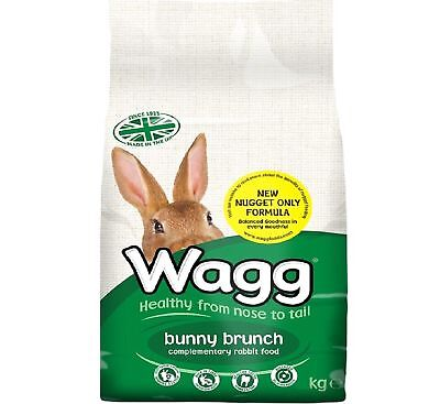 WAGG BUNNY BRUNCH - (2kg) - Rabbit Food  Pet Feed Lop Nuggets Meal