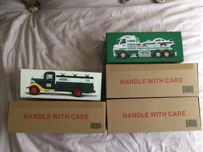2018 Hess Collectors Edition and (2) 2016 Hess Toy Trucks and Dragsters NIB