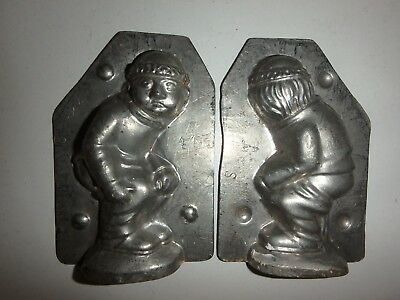 XRARE Antike Schokoladenform DUKATENSCHEISSER antique chocolate mold HERIS #1244