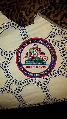 1995 Vintage 12th World Hot Air Balloon Championship Patch colorful New!!!