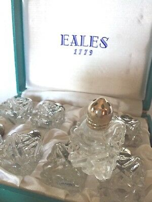 EALES 1779 Silverplate Glass Salt and Pepper Shakers  8 w/ Box #616 Japan