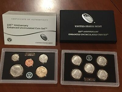 2017-S US Mint 225th Anniversary Enhanced Uncirculated 10 Coin Set -17XC