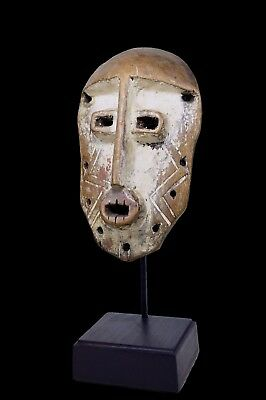 Bold & Powerful Old Lega Bwami Society African Mask, African Art