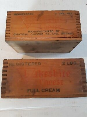 Antique Wooden Cheese Boxes (2) Chateau Cheese Co Ottawa Ontario