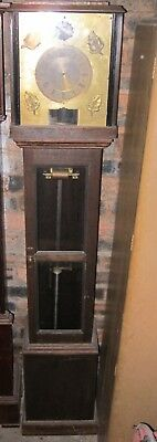Very Rare C 1913 Gledhill-Brook Time Recorder Sun-Phase Clock Empire Movt Master