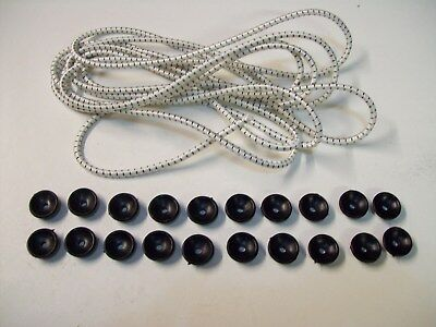 10 mts of 5 mm bungee cord for trailer Cover  & 20 Tie Down plastic  Button