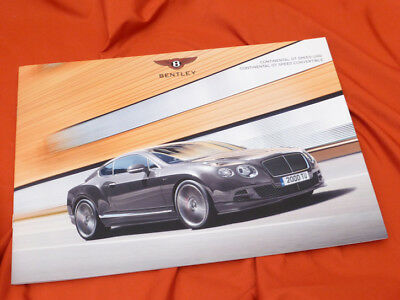 2014 BENTLEY Continental GT Speed und Cabrio GTC (now 635 PS) Prospekt Brochure