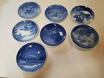 vintage Bing and Grondahl Blue & white 1961 - 1967 Christmas collector plate lot