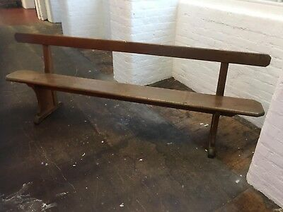 Industrial Vintage Wooden Church / Chapel Bench Pew