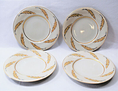 Vintage Meito Courtley Set of 4 Dinner Plates Made in Japan Hand Painted