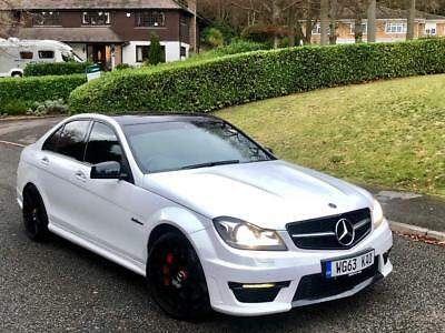 2014 63 Mercedes C63 6.3 Amg Mct 7S 4Dr Saloon White (Facelift)  ** Huge Spec **