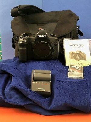 Canon EOS 5D Mark I (Body) w/ Lowpro Bag & Extras