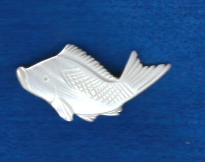 """MOTHER OF PEARL REALISTIC  FISH BUTTON  large 1 1/2"""""""