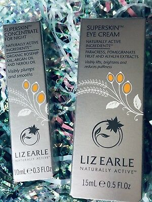 LIZ EARLE SUPERSKIN Eye Cream LIFTS BRIGHTENS & Reduces PUFFINESS + CONCENTRATE