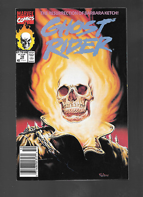 Ghost Rider V2 #18 (Oct, 1991) Cool Cover! by Nelson VF/NM 9.0