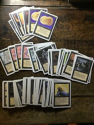 Magic the Gathering Revised Edition Rare, Uncommon and Common Black Cards