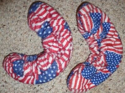 Terry Blade Soakers for Figure Skates or Ice Hockey Skates one pr AMERICAN FLAG